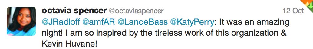 Tweet from Octavia Spencer