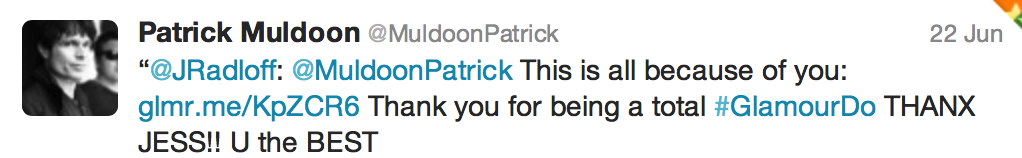 Tweet from Patrick Muldoon of Starship Troopers