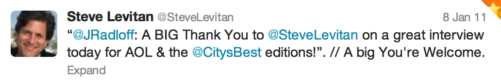 Tweet from Steve Levitan, EP and creator of Modern Family
